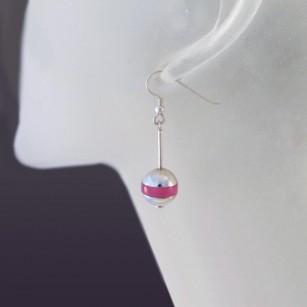 Boucle d'oreille Bouées rose