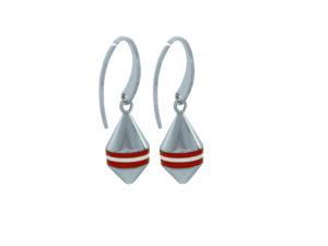 Boucles d'oreilles Bouées Ar Gazel Marinière rouge