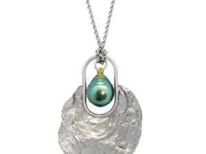 Pendentif Coquille + perle de Tahiti