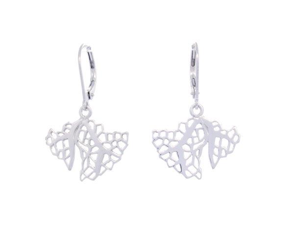 Boucles d'oreilles Corail pendantes