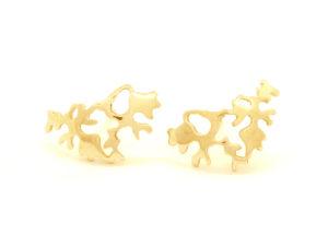 Boucles d'oreilles Lichen plaqué or