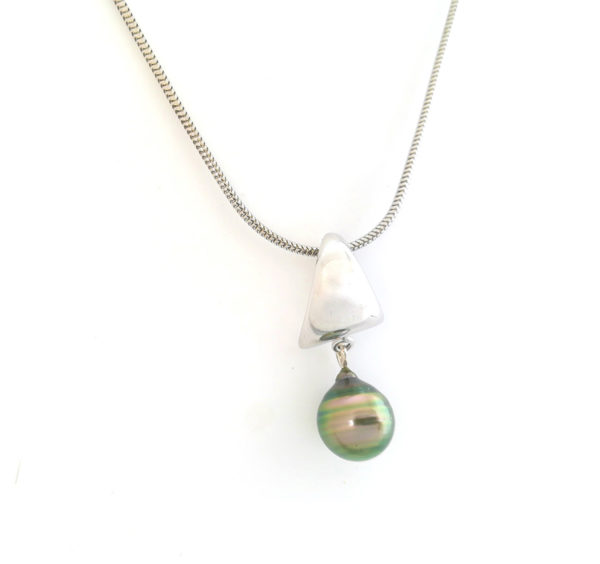 Pendentif Optimist + perle + chaîne