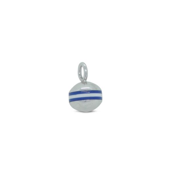 Pendentif bouée Bilou n°2 marinière bleue