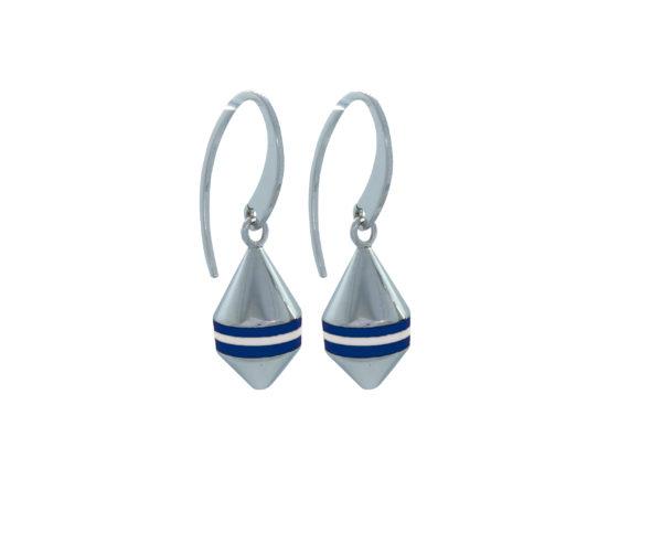 Boucles d'oreilles Bouées Ar Gazel Marinière Bleues