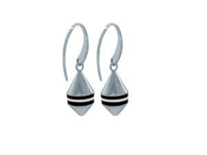 Boucles d'oreilles Bouées Ar Gazel Marinière noire