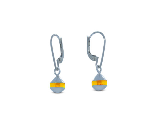 Boucles d'oreilles bouées dormeuses Poupian n°1 jaune fluo