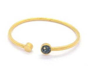 Bracelet coeur de kersanton + diamant plaqué or