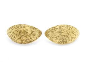Caches lobes fraisés plaqué or