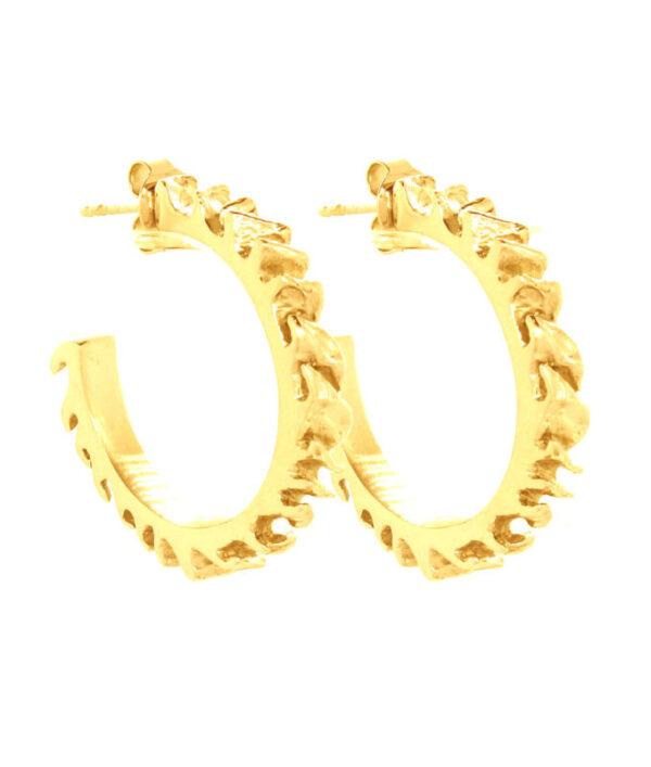 Créoles feuilletées plaqué or
