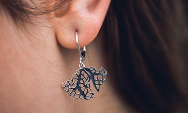 Boucles d'oreilles Corail